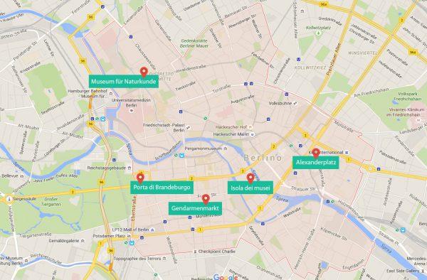 Berlino centro cartina