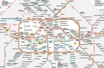 Mappa Metropolitana di Berlino