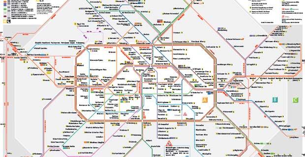 Pianta Muro Berlino : Metropolitana di berlino orari prezzi biglietti e mappa